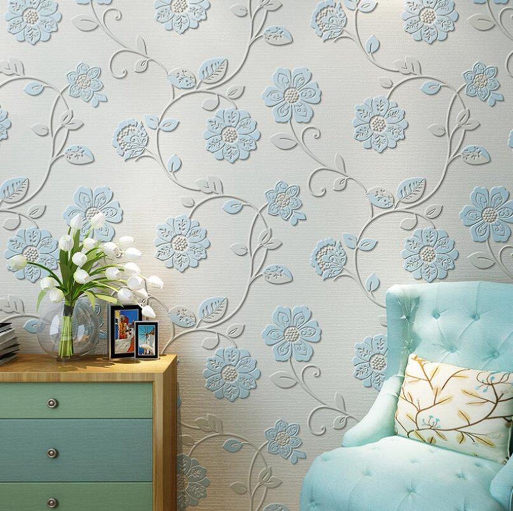 Jingzou Pastoral non woven 3D wallpaper warm romantic bedroom 1024x1021