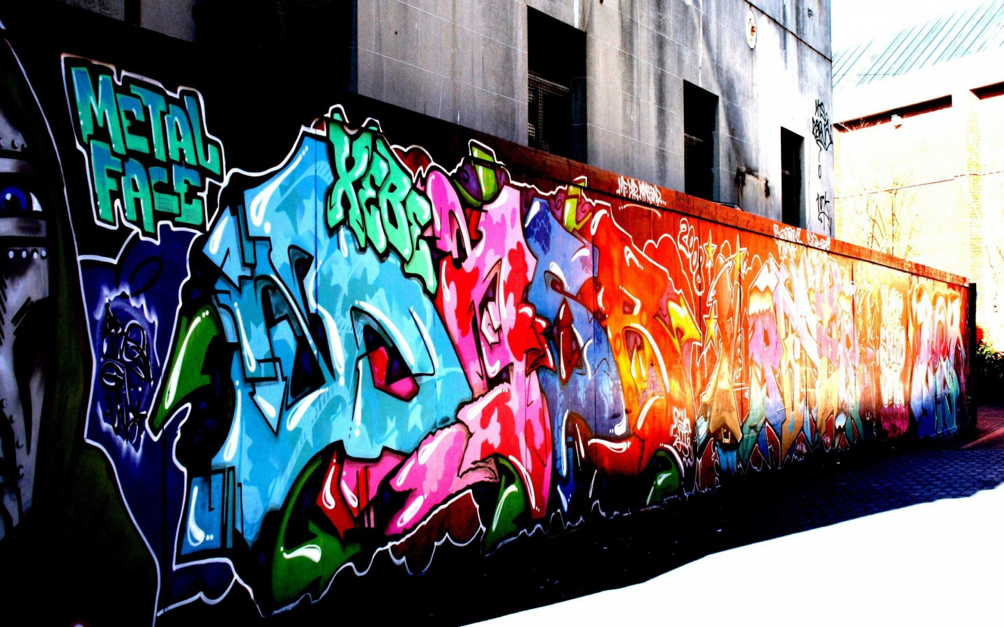 Wall Graffiti   Colors Wallpaper 31067200 1440x900
