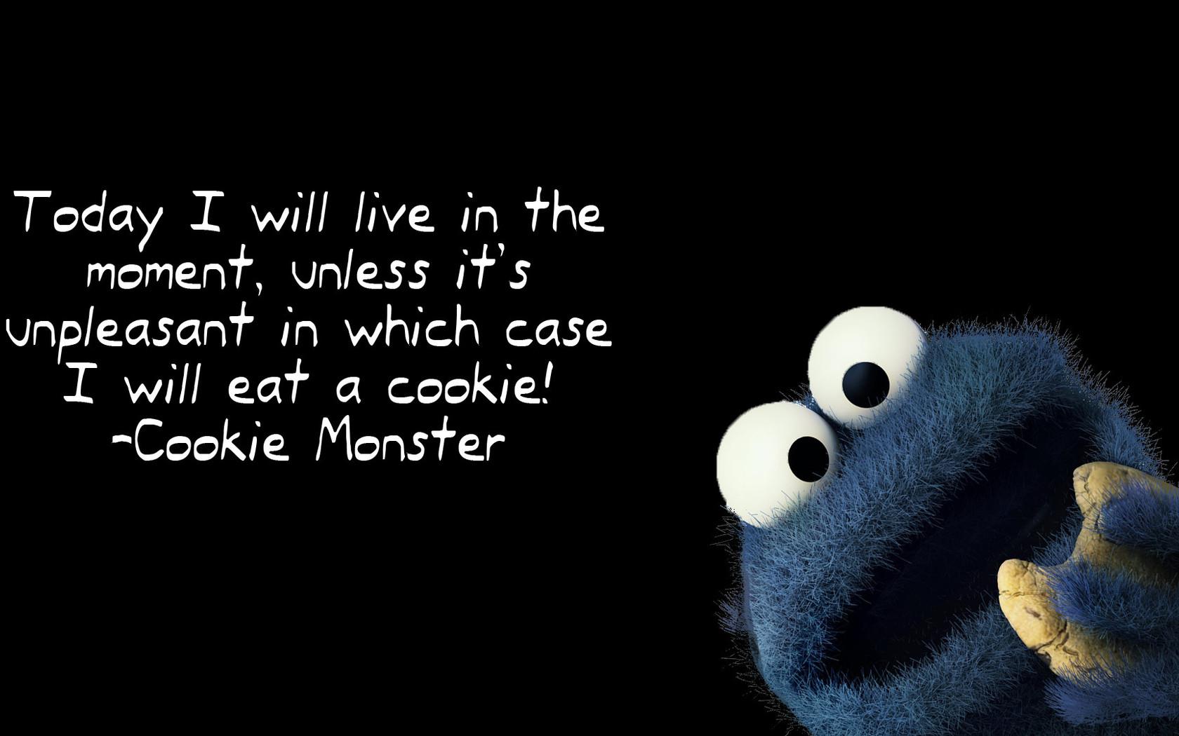 Cookie Monster quote wallpaper 17803 1680x1050