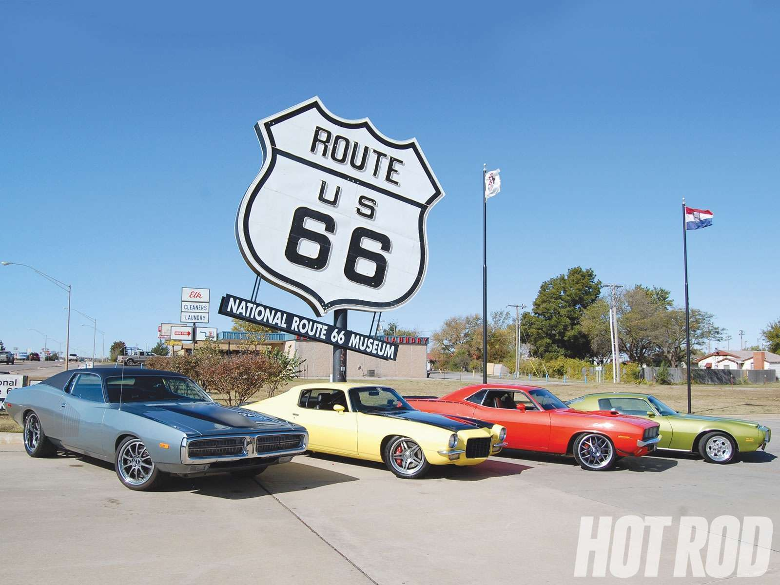 Muscle On Route 66 Wallpaper Hd Car Wallpapers 1600x1200