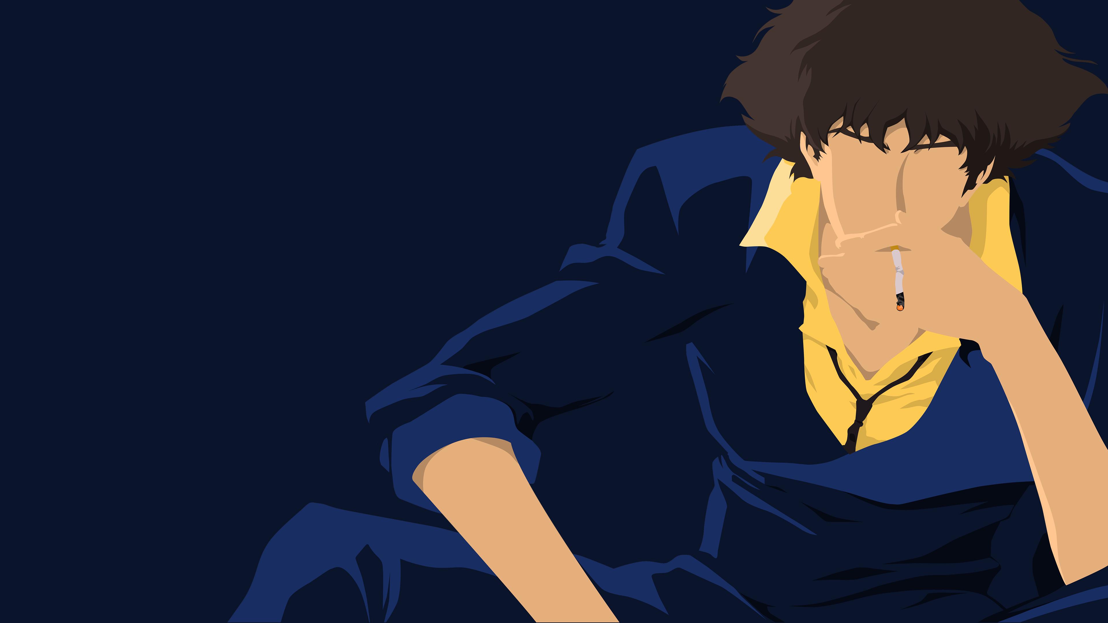 Spike Spiegel Dark Blue Wallpaper by tonyp2121 3840x2160