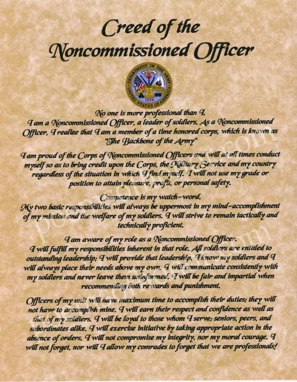 essay disrespect noncommissioned officer Free essay: respect is one the 7 army values and probably one of the most  important in today's army discipline also works alongside respect.