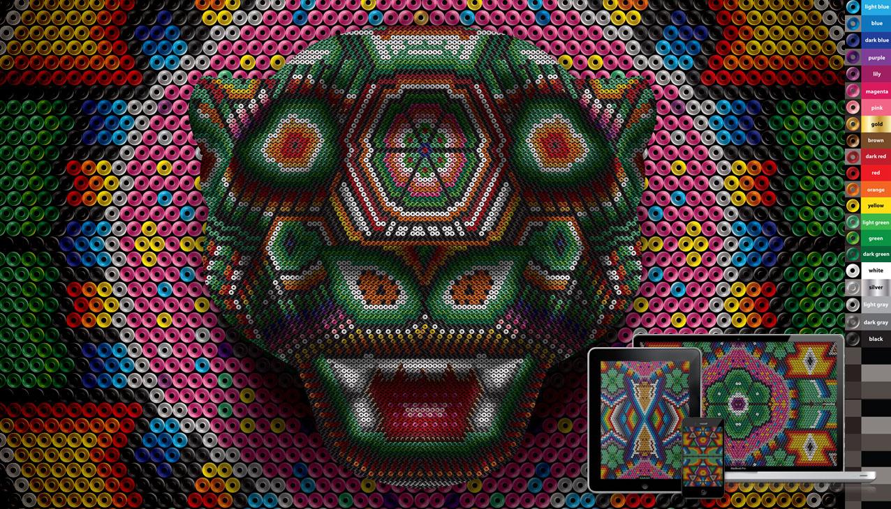 huichol jaguar wall vector and pixel freebie by ikarusmedia on 1276x730
