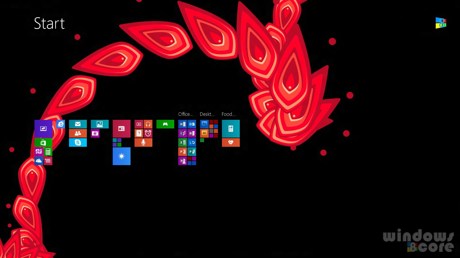 Windows 81 Start Screen 1600x900