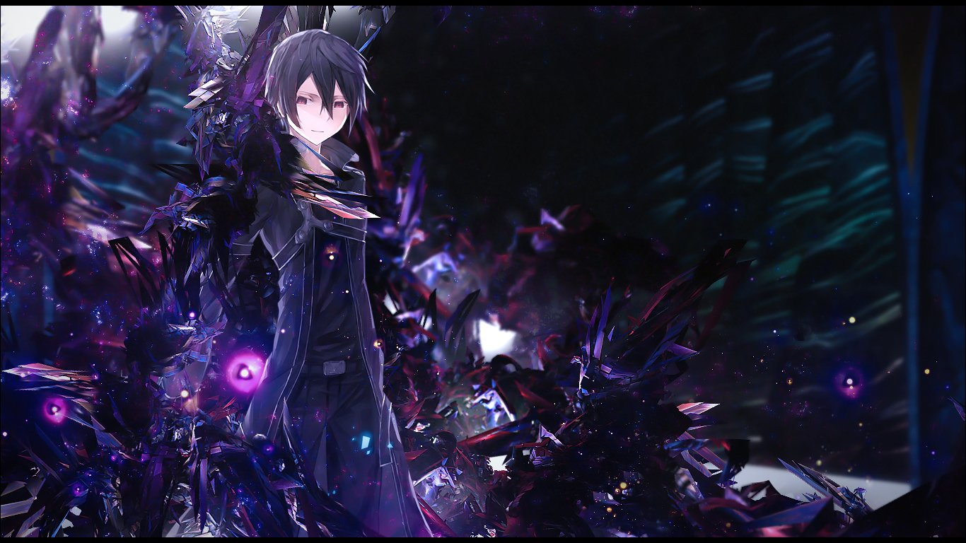 Cool Kirito Sword Art Online 0253 HD Wallpaper 1366x768