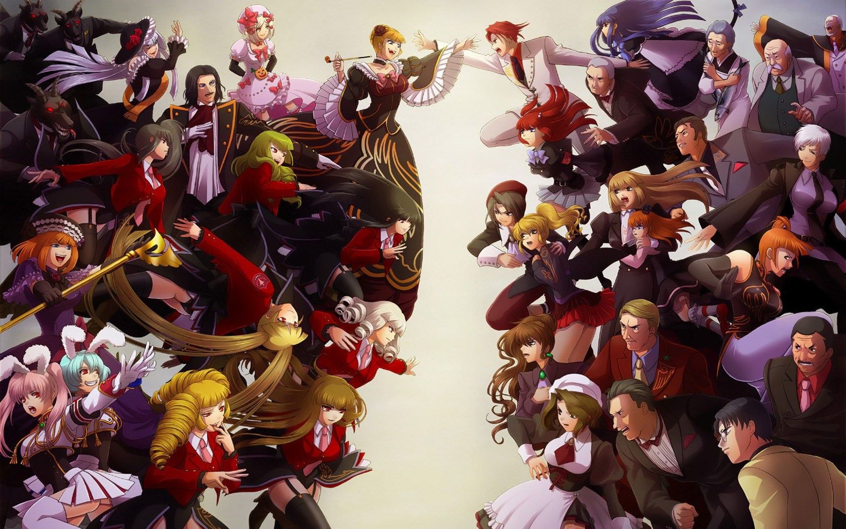 anime characters all together wallpaper all anime main characters 1680x1050