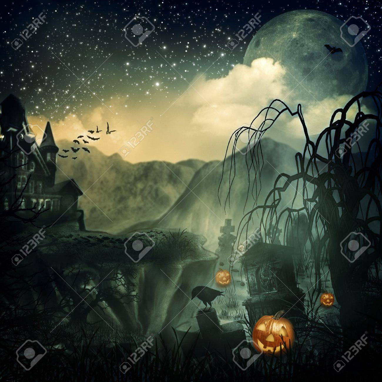 Scary Movie Abstract Halloween Backgrounds For Your Design Stock 1300x1300