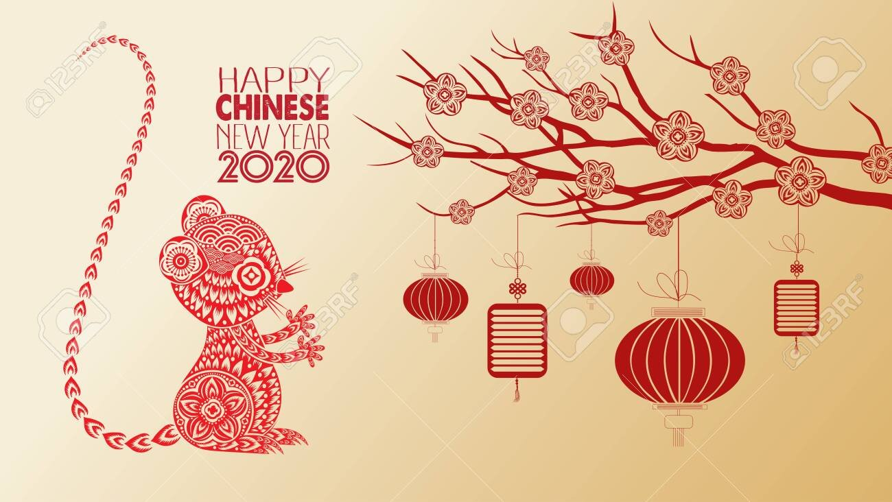 Beautiful Happy New Year 2020 Wallpapers Year Of The Rat Royalty 1300x732