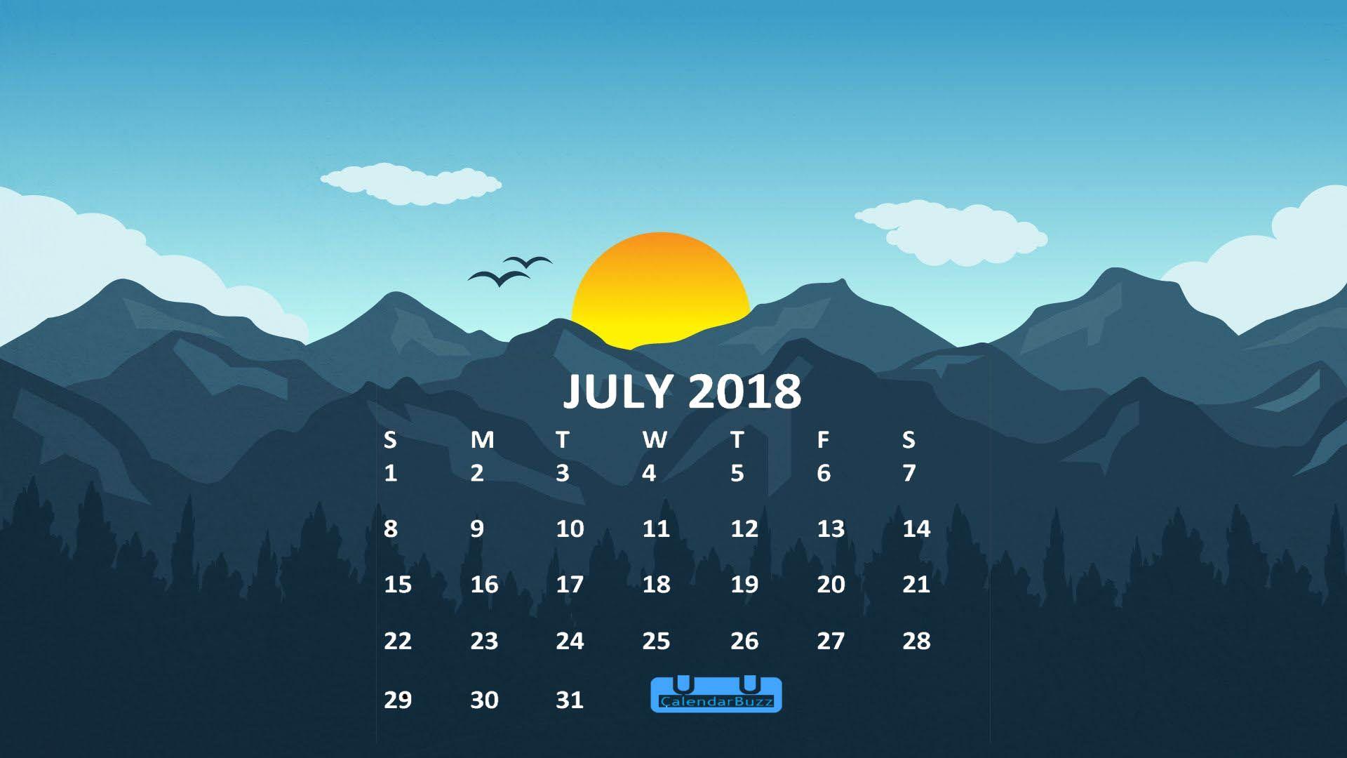 July 2018 Calendar HD Wallpaper 2018 Calendars Calendar 1920x1080