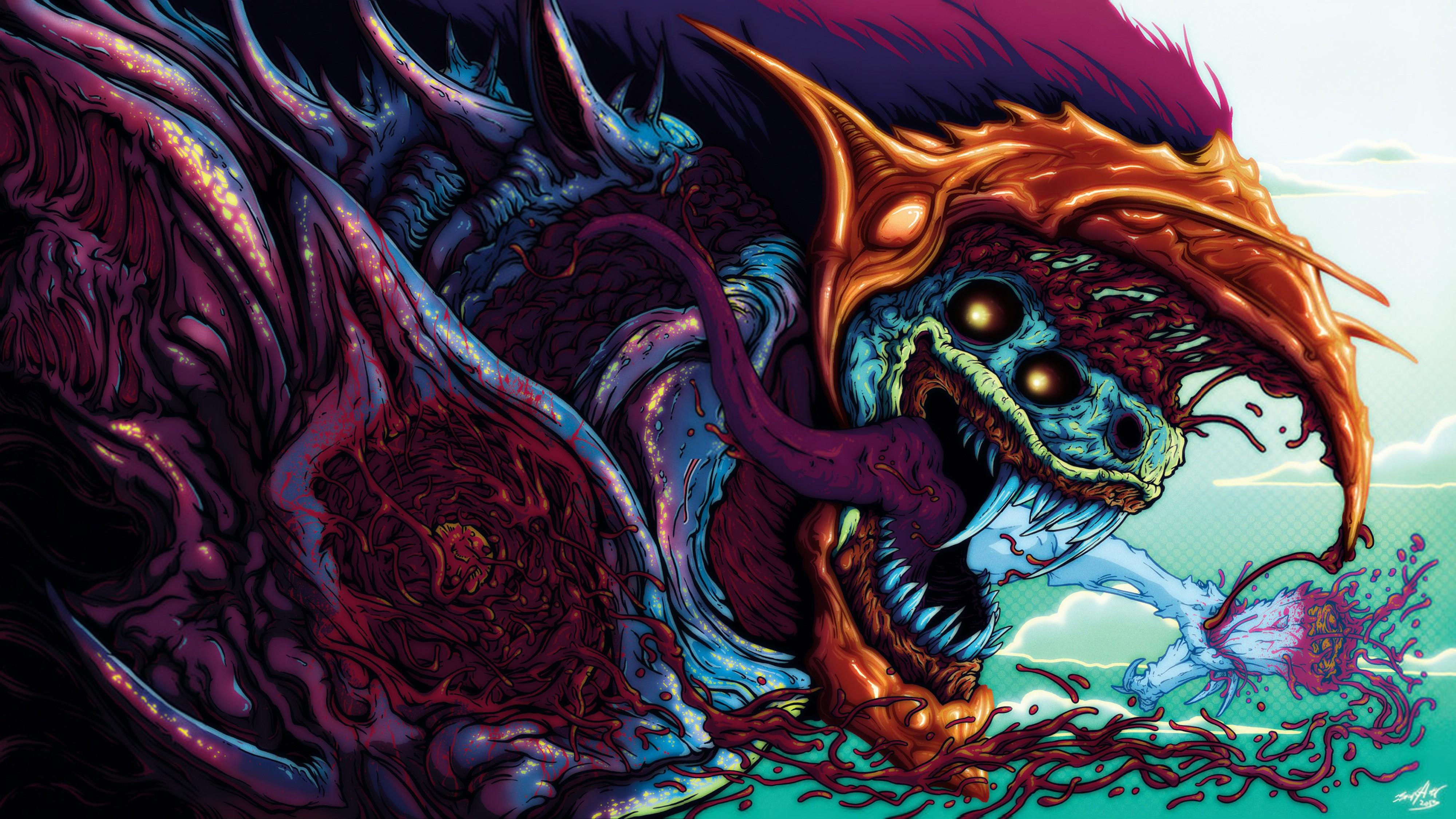 Download 4000x2251 hyper beast 3d art graphics beast monster 4000x2251
