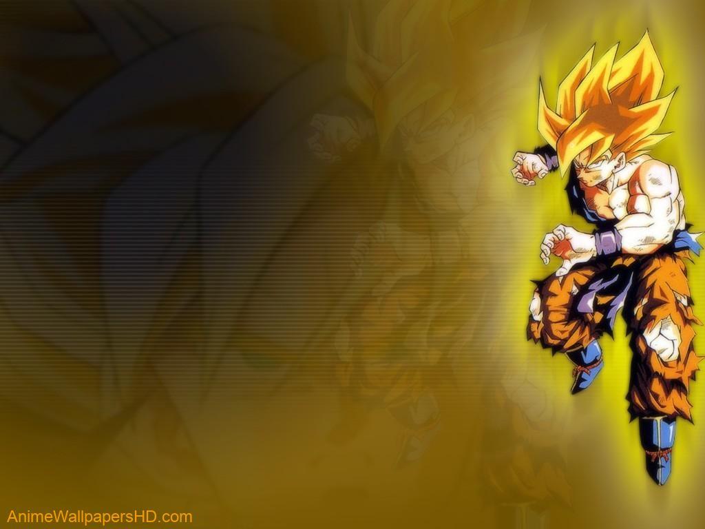 Download Dragonball wallpaper Goku Super Saiyan 1024x768