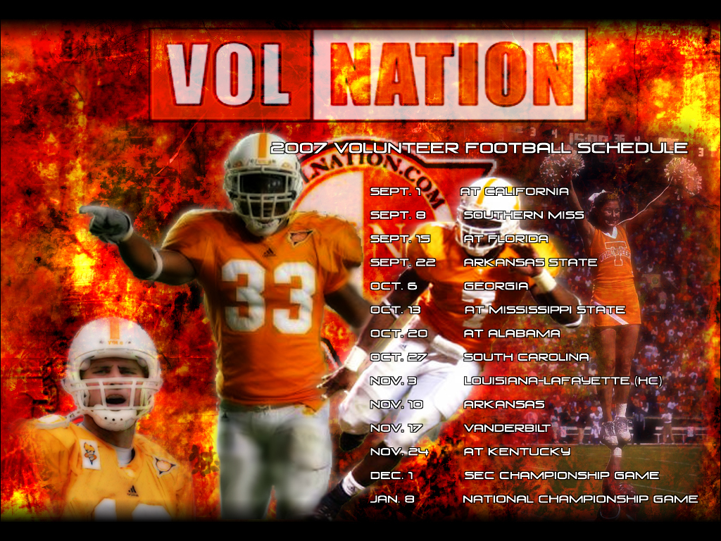 2007 Tennessee Vols Football Wallpaper 1024x768