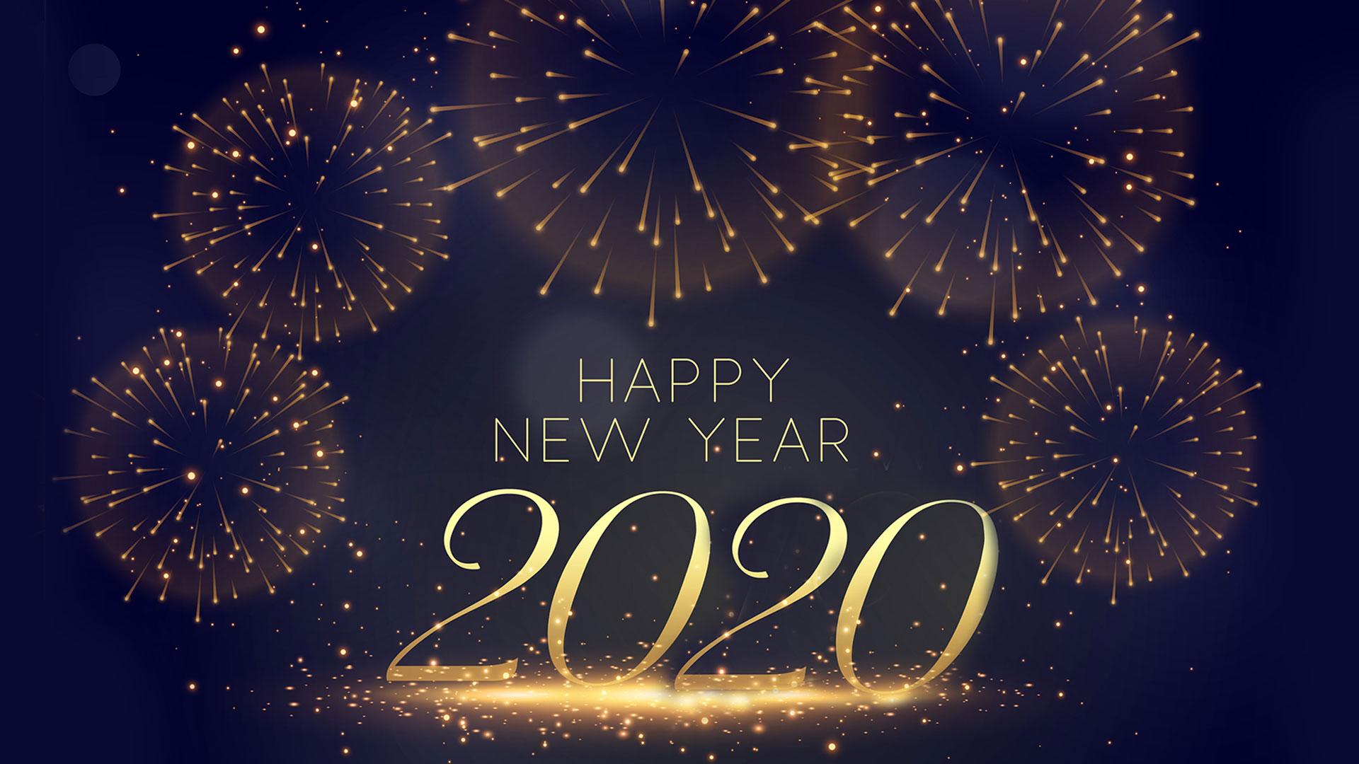 download Welcome New Year 2020 Desktop Widescreen Wallpaper 1920x1080