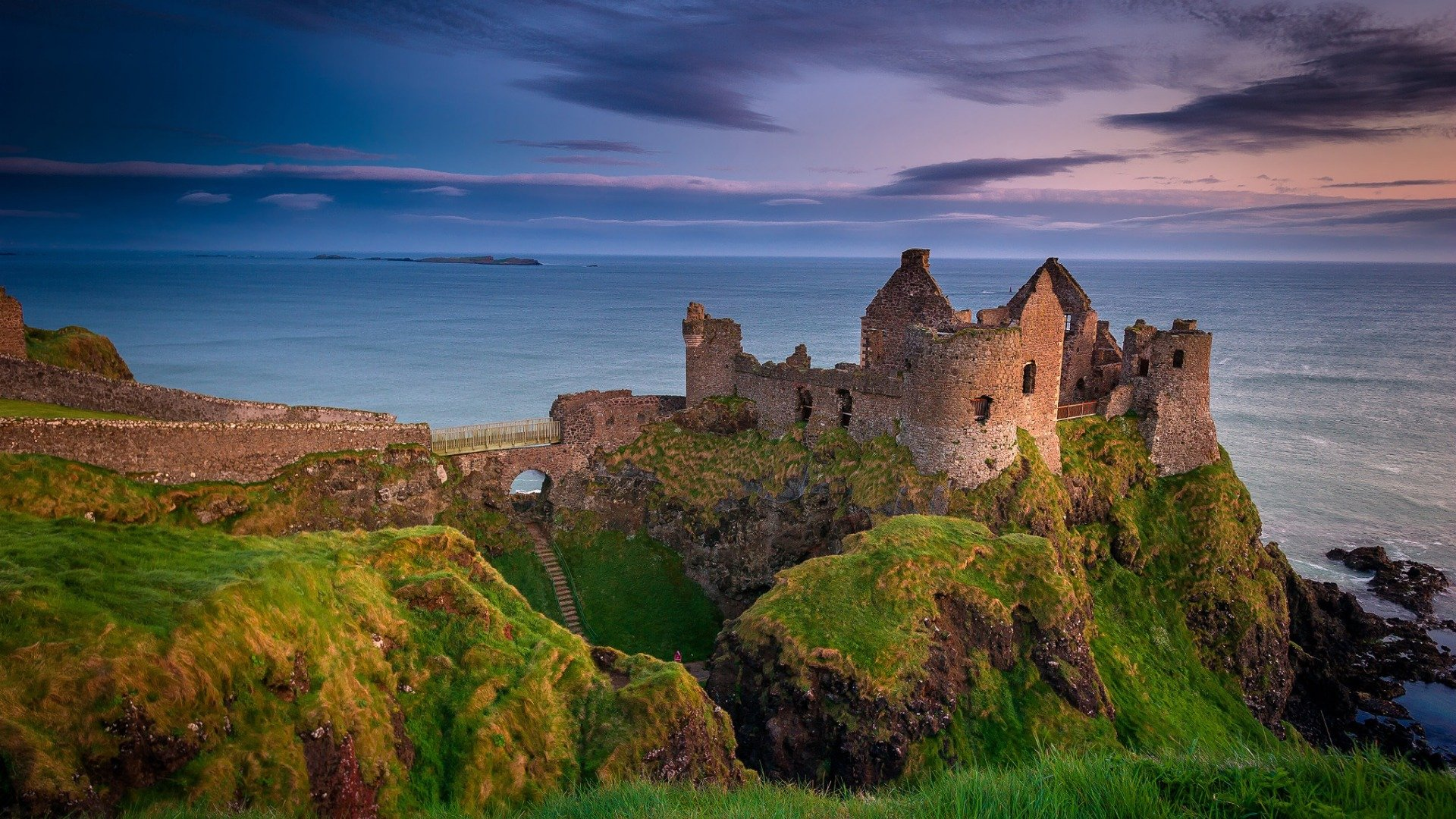 Northern Ireland County Antrim castle Danlos wallpaper 1920x1080