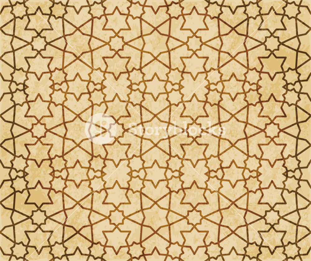 Retro brown Islam seamless geometry pattern background eastern 1000x839