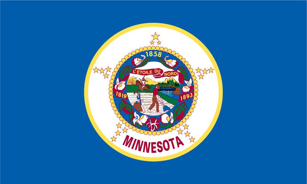 Minnesota USA Flag Pictures 1024x614