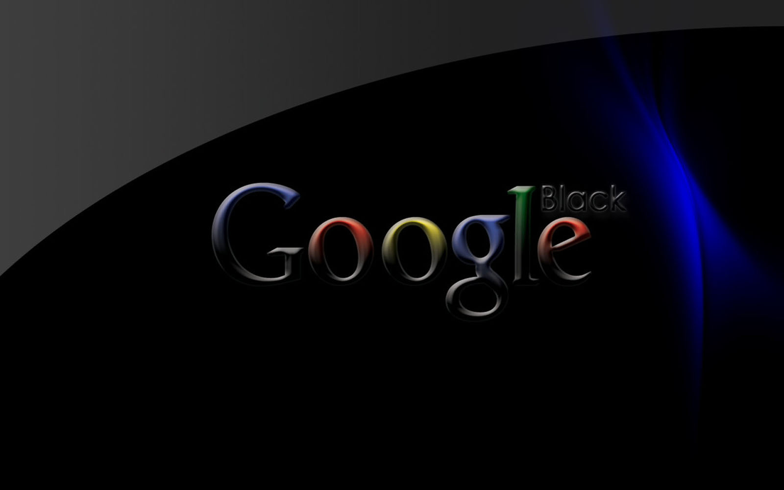 wallpapers Black Google Wallpapers 1600x1000