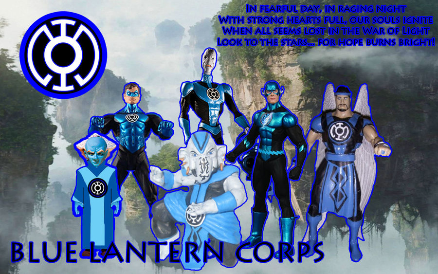 Blue Lantern Corps Background by NewPhyrexia 900x563