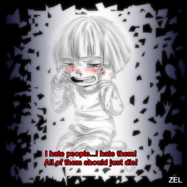 Undertale   Charas hatred by zeldaprincessgirl100 600x600