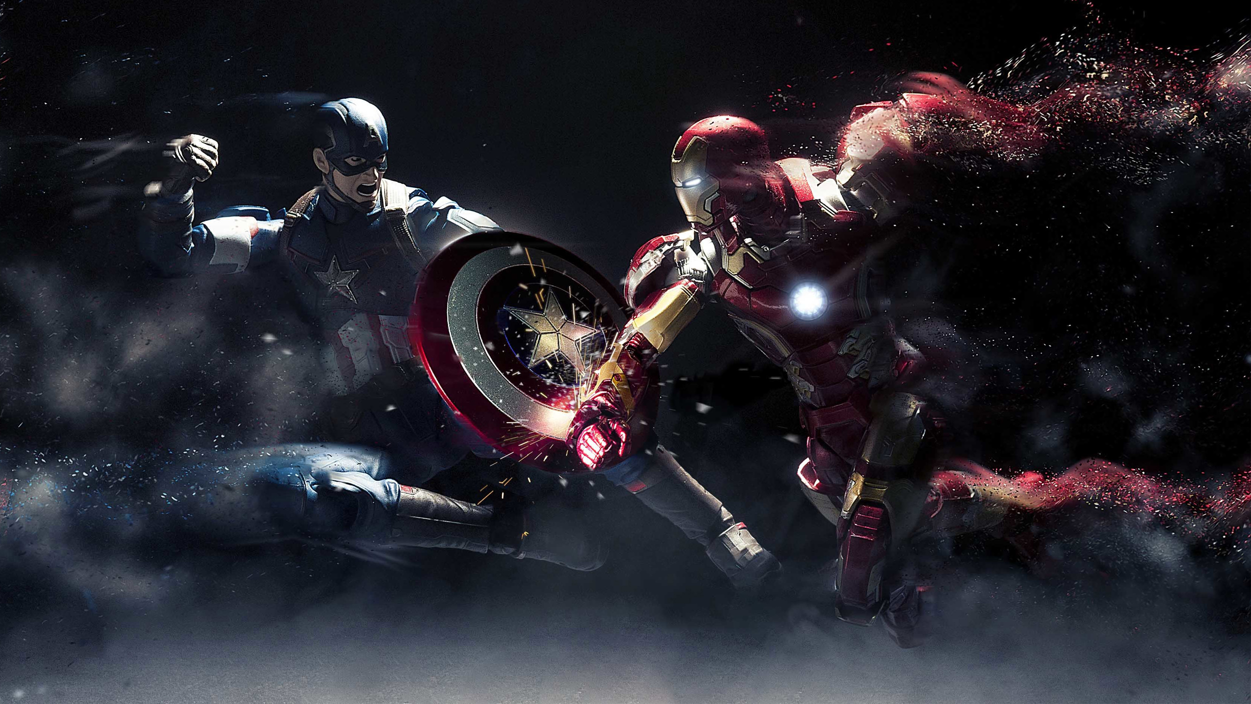 Captain America vs Iron Man HD Wallpaper Background Image 2560x1440
