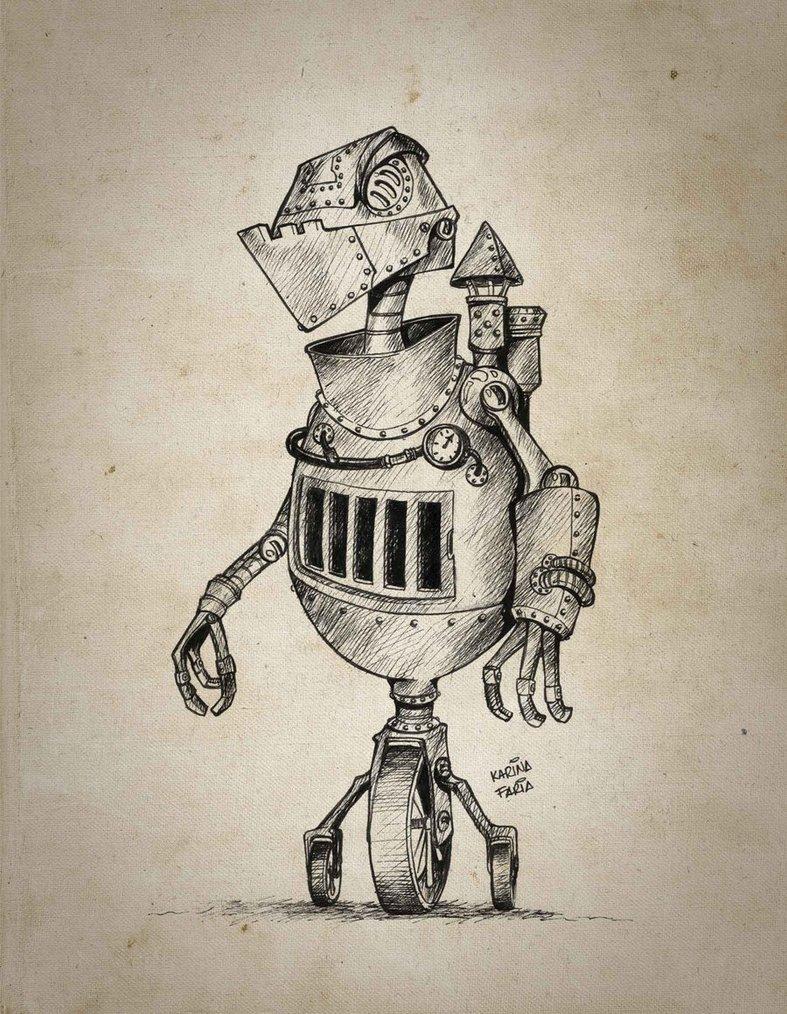 Retro Robots Wallpaper Retro robot by karinafaria 787x1014