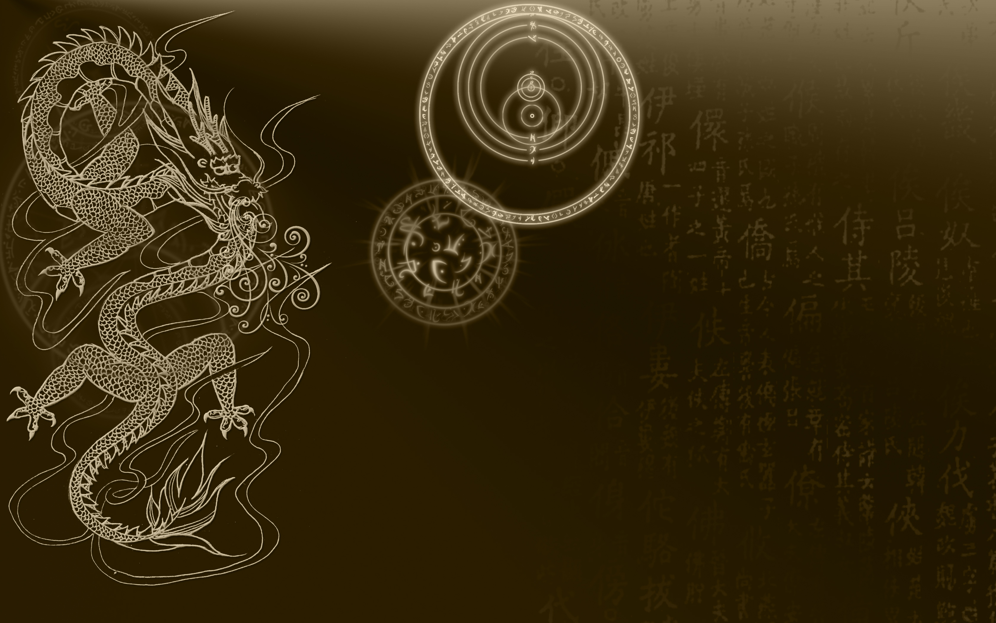Chinese Dragons wallpapers Chinese Dragons background 3360x2100