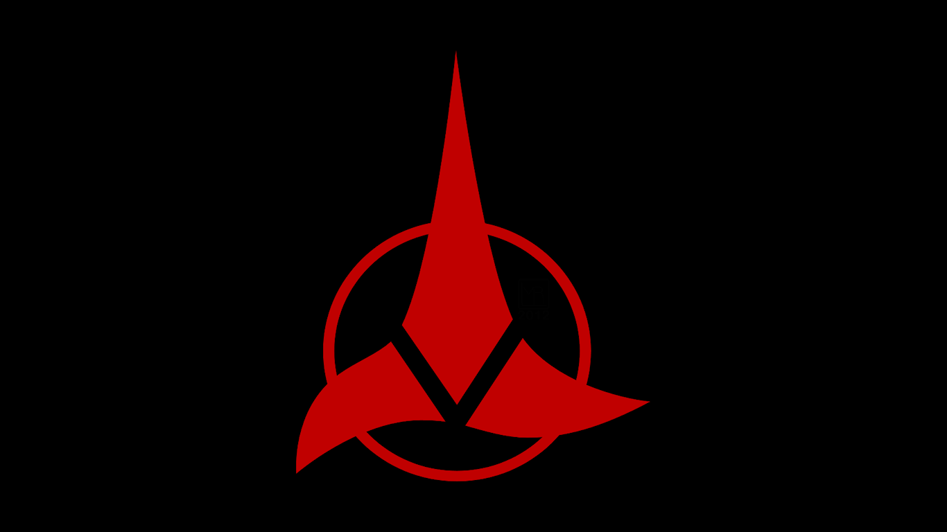 star trek klingons symbol by morganrlewis fan art wallpaper movies tv 1366x768