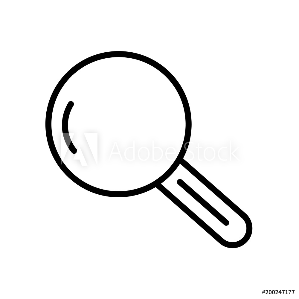 Fotografie Obraz Magnifying glass icon isolated on white 1000x1000