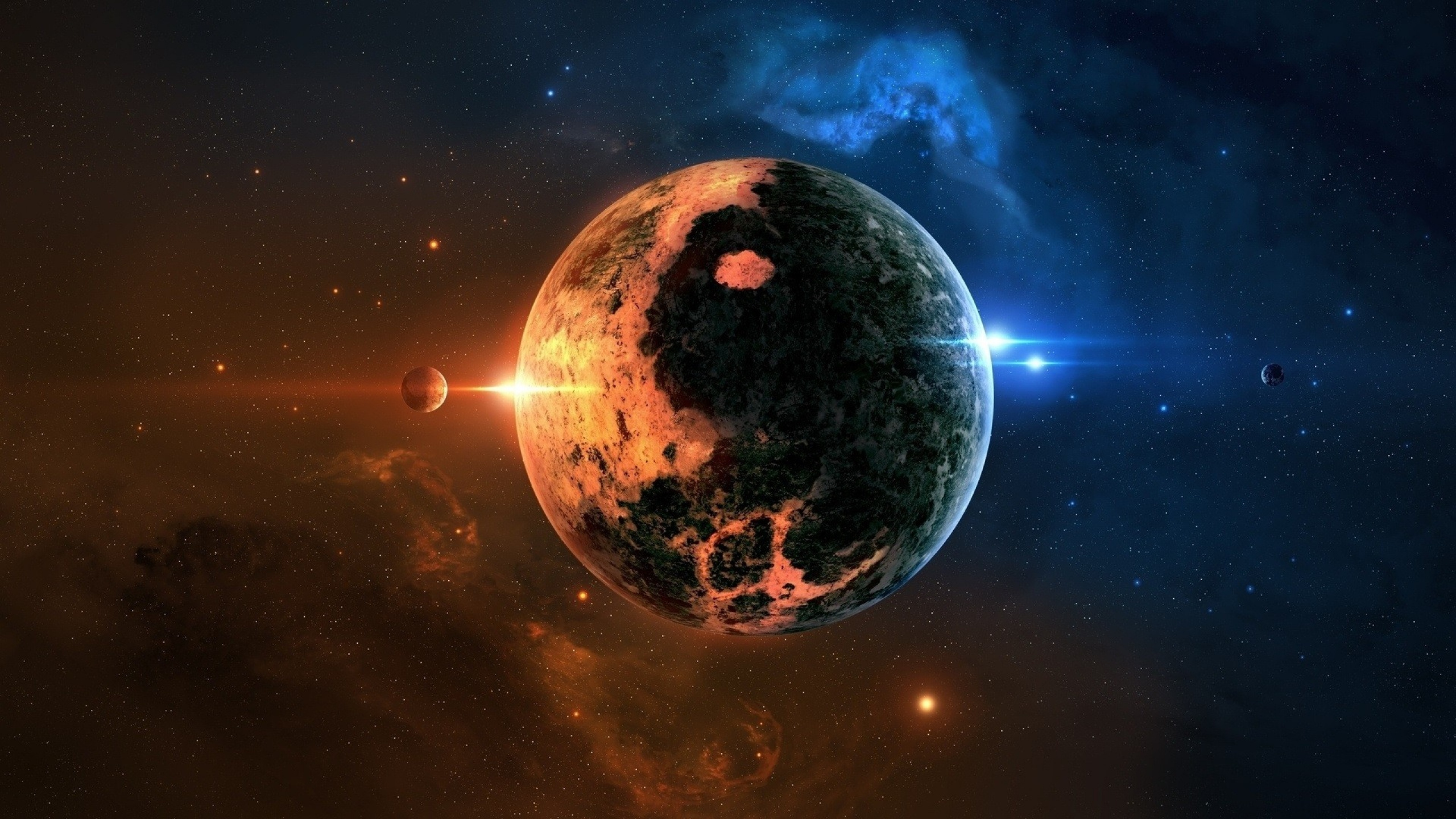 2560x1440 Wallpaper space planet background 2560x1440