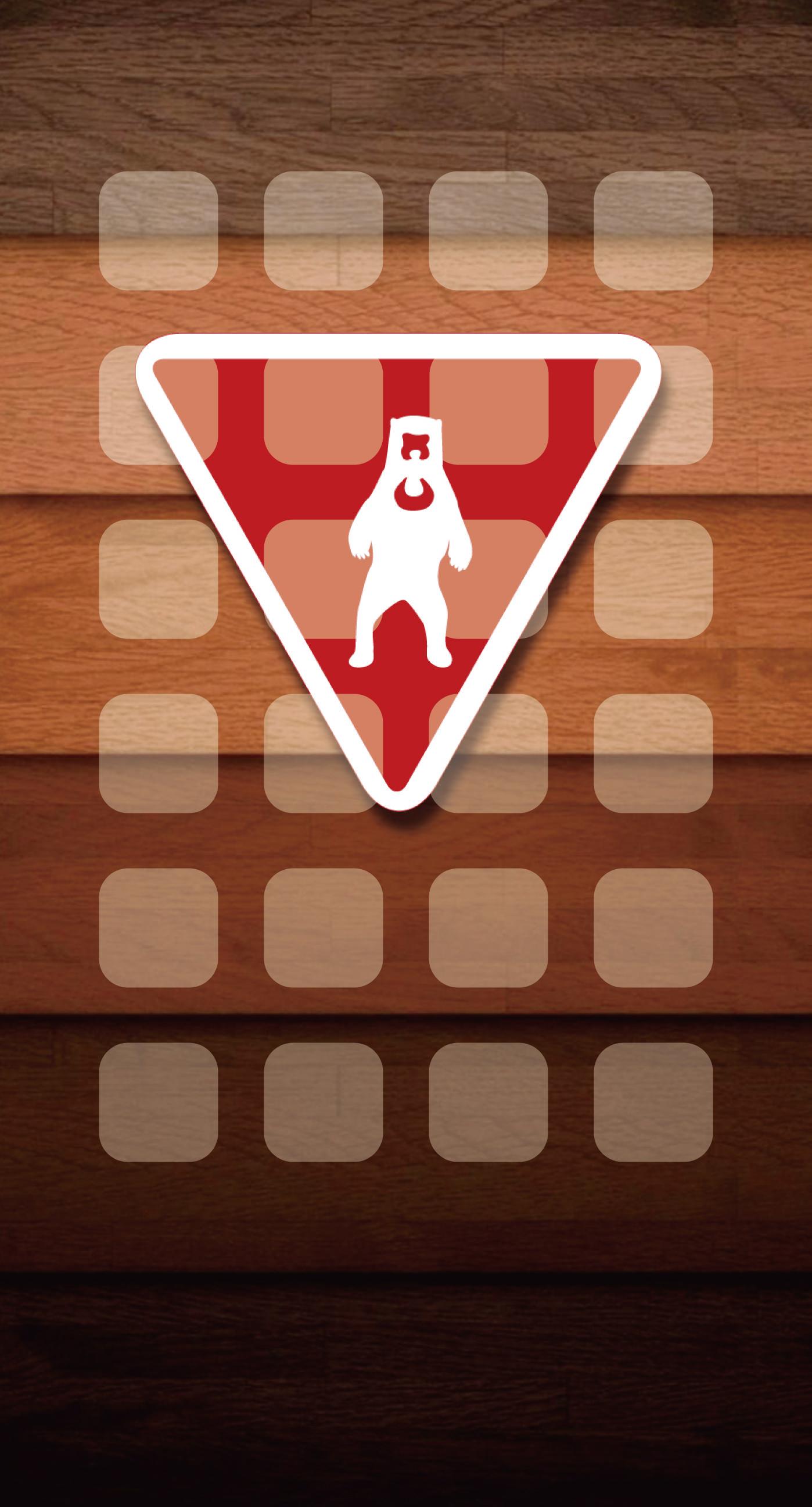 Illustrations bear wood shelf Brown wallpapersc iPhone7Plus 1398x2592