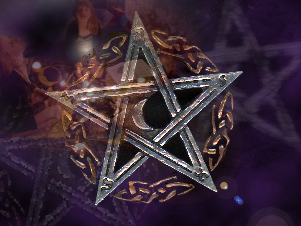 Go Back Images For Wiccan Pentagram Wallpaper 1024x768