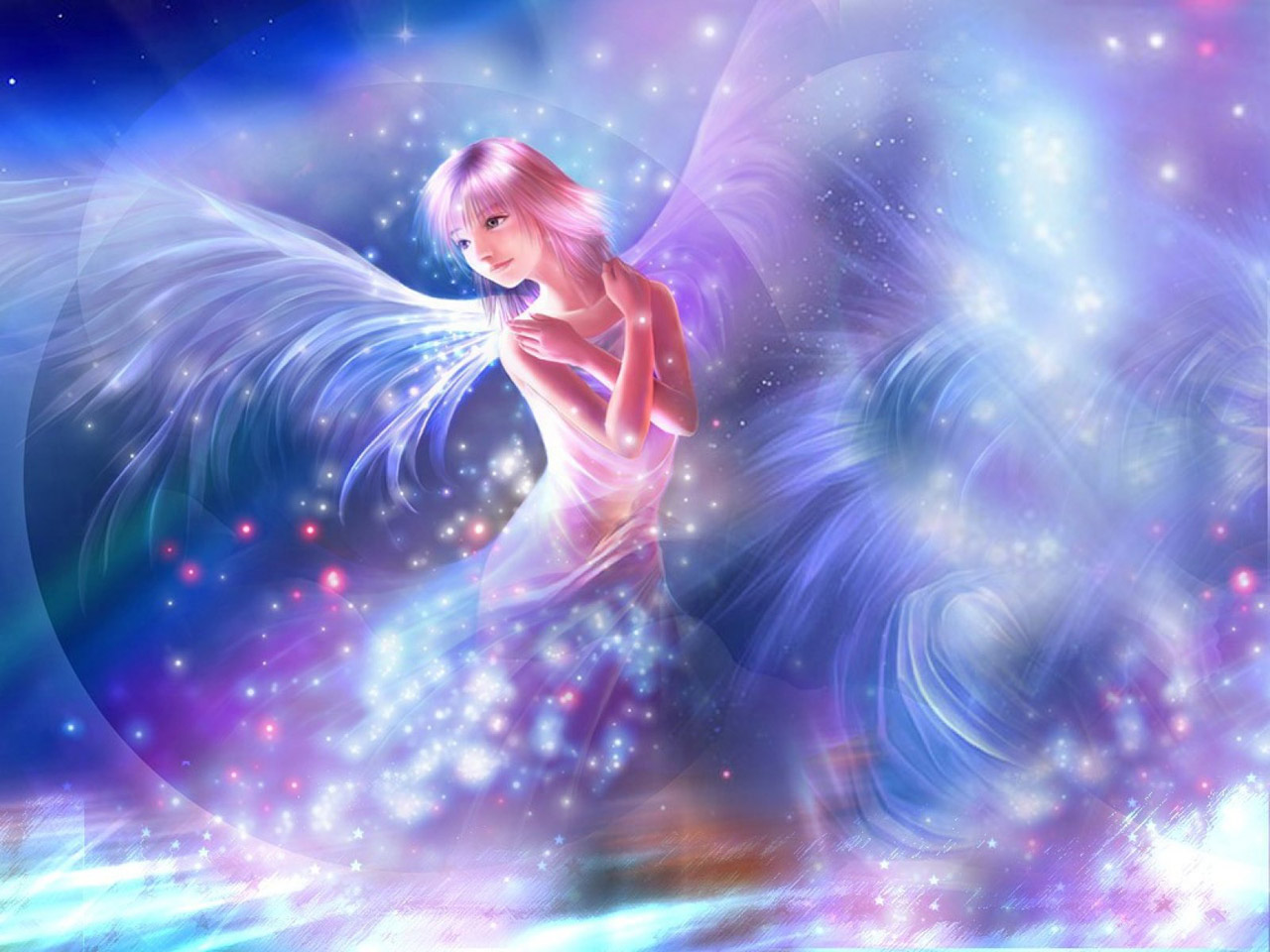 Shining Angel   Fantasy computer desktop wallpapers pictures 1280x960