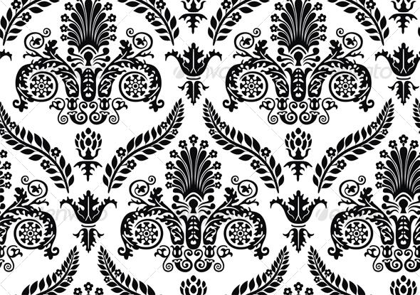 Seamless Renaissance Wallpaper   Patterns Decorative 590x415