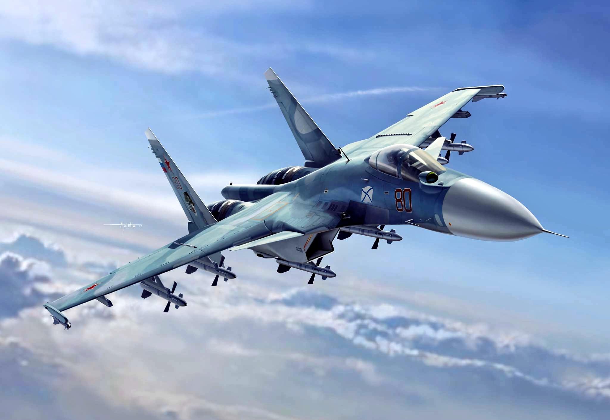 Wallpaper of Aircraft Jet Fighter Sukhoi Su 33 Warplane 2048x1410