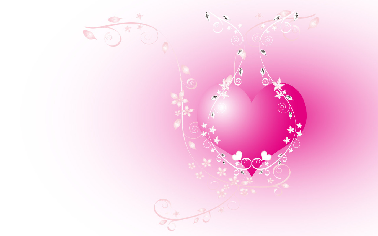 Wallpapers Hearts Love Romantic Red Pink Myspace 1280x800