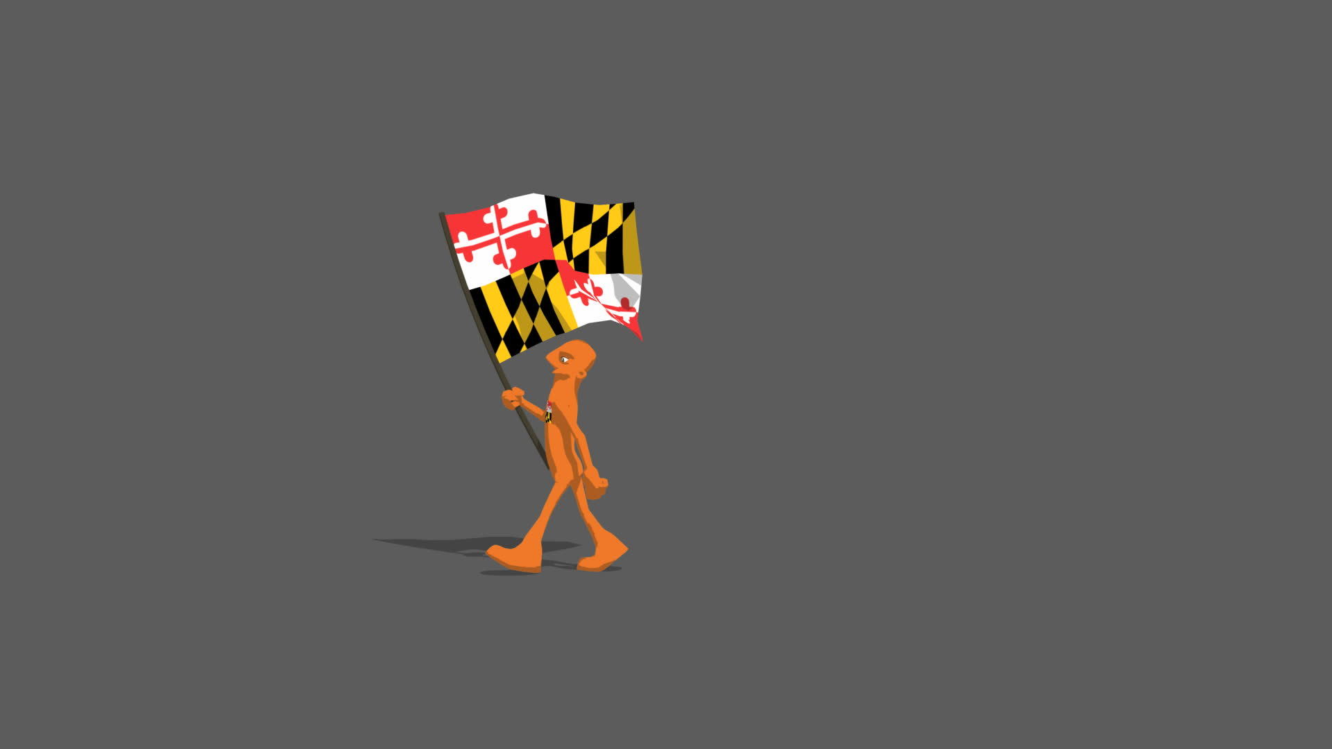 us maryland National Flag Carried By Character A marching type walk 1920x1080