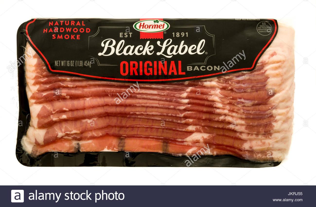 Winneconne WI   23 July 2017 A package of Hormel black label 1300x854