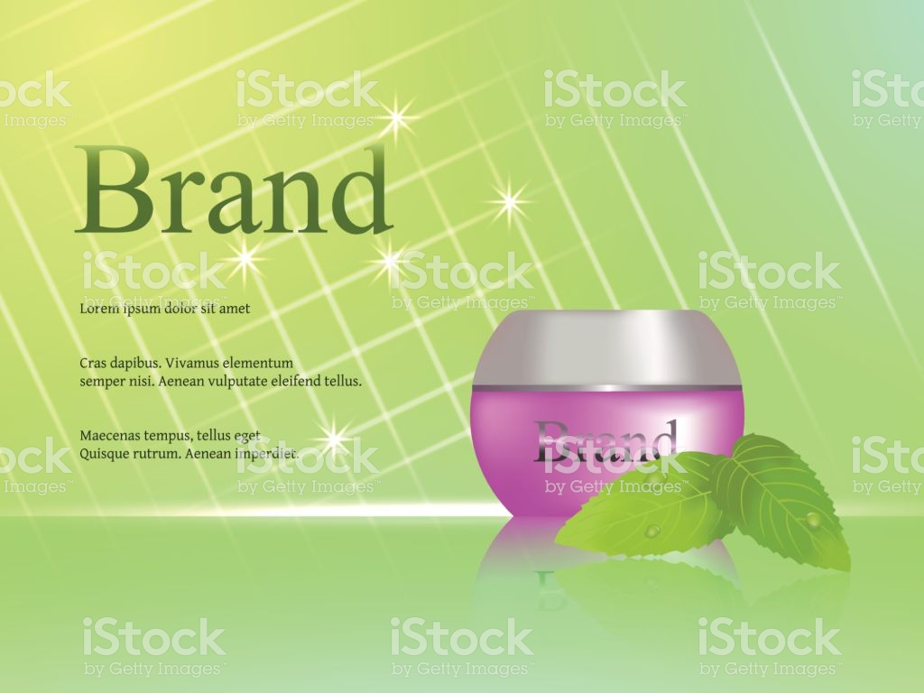 The Design Of Cosmetics Skin Cream Light Fresh Green Background 1024x768