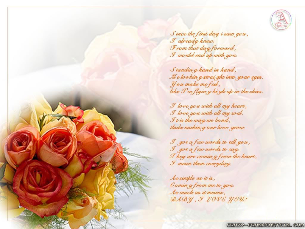 Beautiful love poems wallpaper Download Wallpapers 1024x768