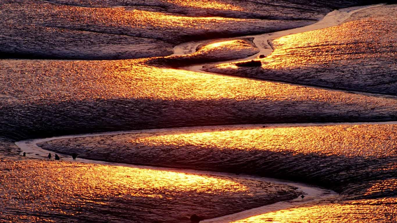 Mud flats Saint John Bay of Fundy New Brunswick Andre Gallant 1366x768