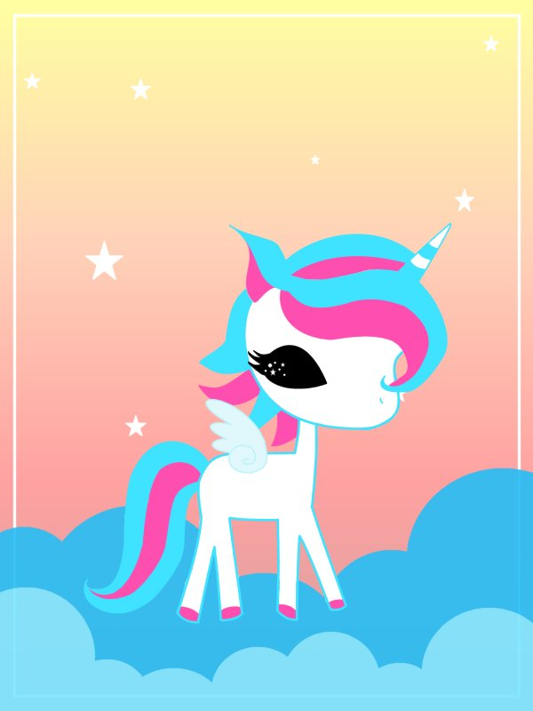 Kawaii Unicorn Wallpaper WallpaperSafari