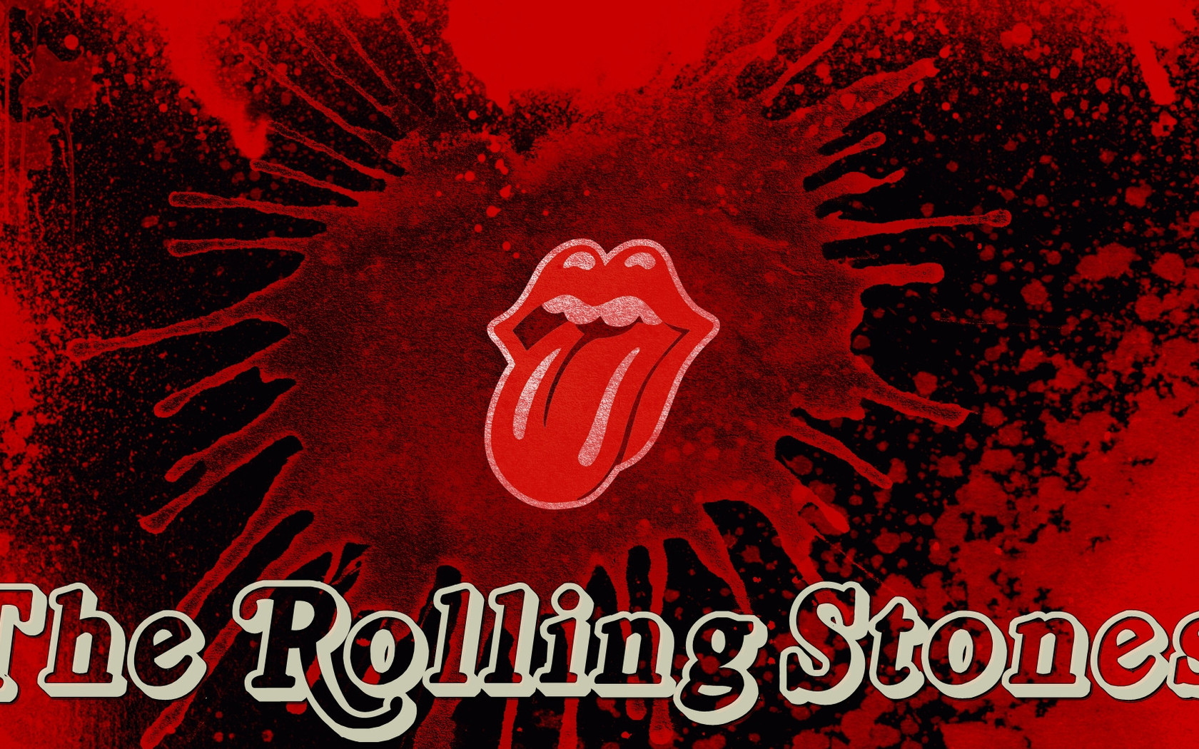The Rolling Stones tongue logo Widescreen Wallpaper   21327 1680x1050