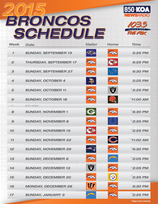 photo about Denver Broncos Schedule Printable known as Vimpat Plan Drug: Fox Denver Timetable