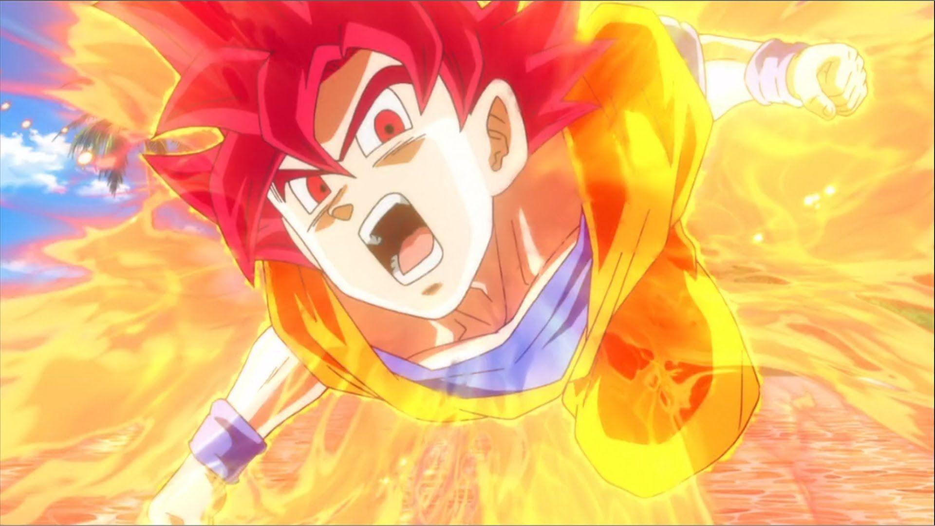 Free Download Son Goku Super Saiyan God Wallpaper Anime Goku Super