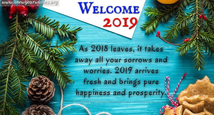 Goodbye 2018 Welcome 2019 Wishes Bye Bye 2018 Hello 2019 744x400
