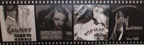 Wallpaper Border Vintage Movie Black White Film Strip 500x157