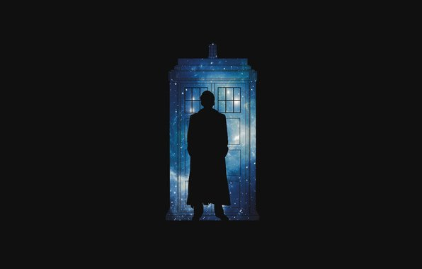 Doctor who bbc doctor who silhouette stars space police house 596x380