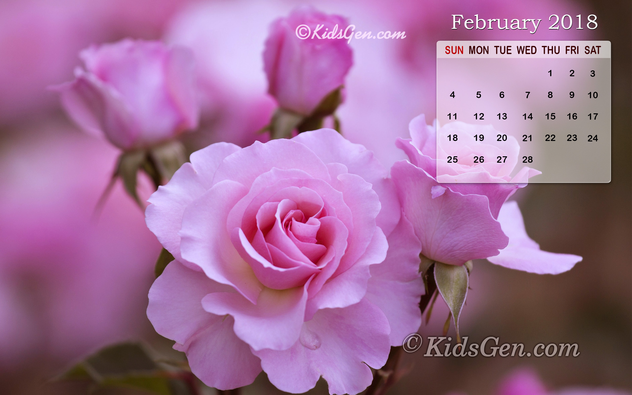 Month wise Calender Wallpapers 2018 2560x1600