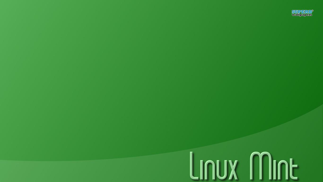 linux mint 8144 1366x768 Linux Mint Font Green Background HD Wallpaper 1366x768