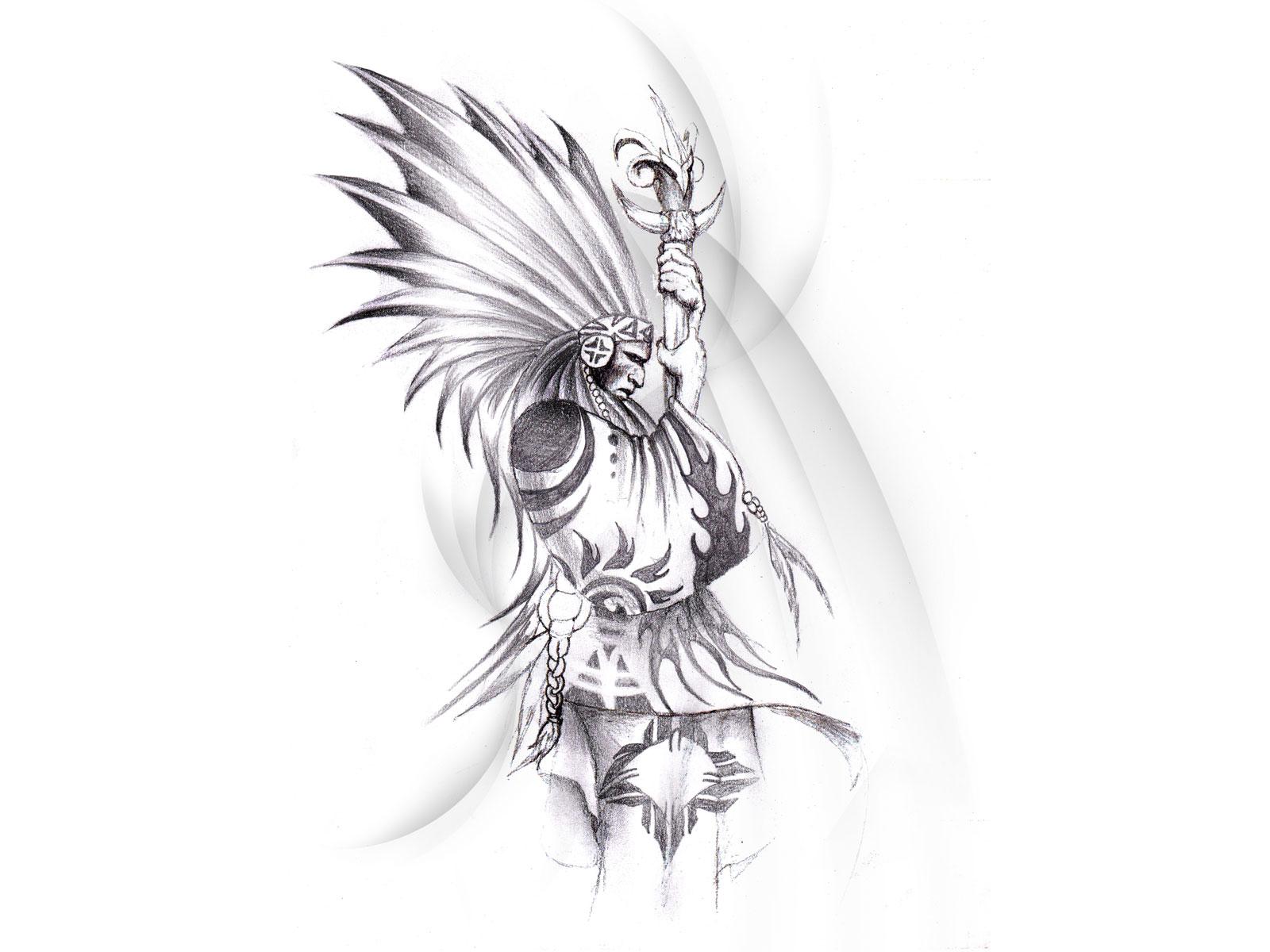 Red Indian Tribal Tattoo design wallpapers   Tattoo Design Ideas 1600x1200